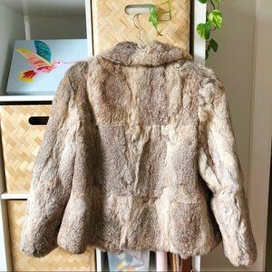Vintage Jackets & Coats - 💫 EXCELLENT CONDITION 💫Vintage Rabbit Fur Coat